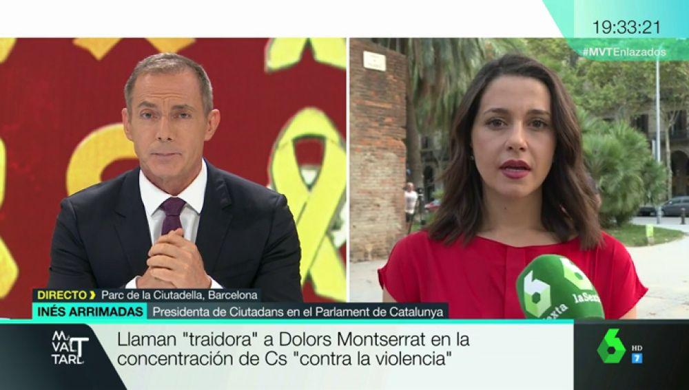 """Inés Arrimadas, sobre los momentos de tensión en la concentración organizada por C's: """"Era el día de dar apoyo, no de manifestarnos en contra de nada"""""""
