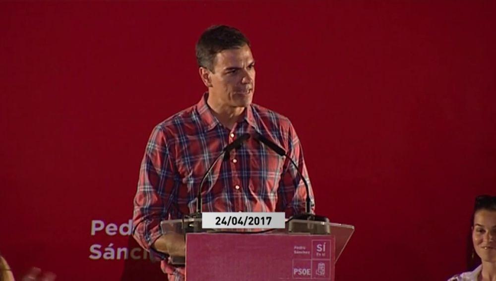 """Así hablaba Pedro Sánchez sobre el Valle de los Caídos en 2017: """"Será un monumento a la reconciliación"""""""