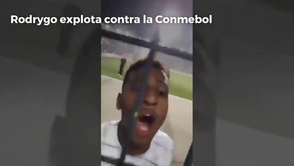 """Polémica de Rodrygo en Brasil: """"Conmebol, hijos de p..."""""""