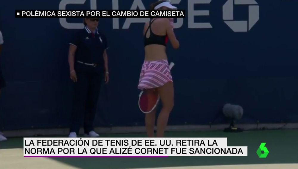 El US Open modifica el reglamento tras sancionar a Alizé Cornet por cambiarse la camiseta