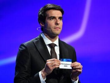 Kaká, durante el sorteo de la Champions
