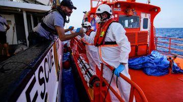 Open Arms y Salvamento Marítimo