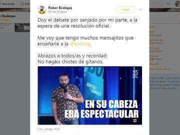 Tweet de Rober Bodegas