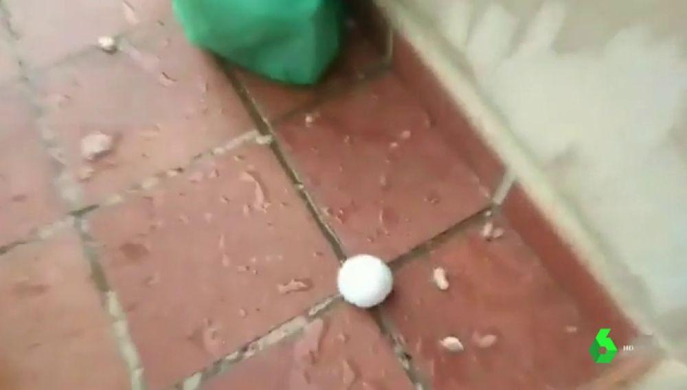 Bola de granizo en Teruel