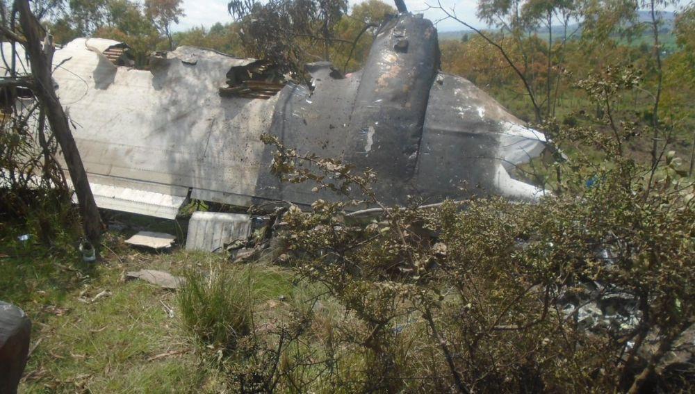 Restos del accidente producido en la región de Oromía, de Etiopía