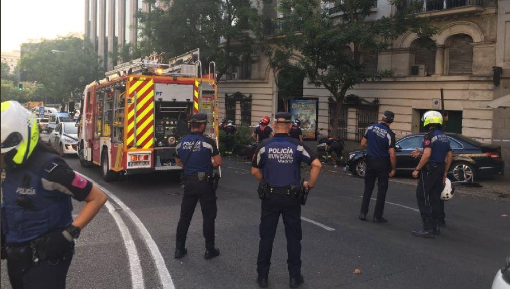 Agentes de Policía en el lugar del suceso