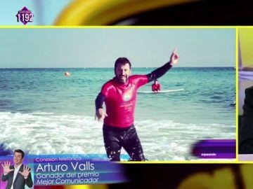 """Arturo Valls con 'La raja de Arturo', ganador del premio Zapeando 'Mejor comunicador': """"He pasado un día de nervios increíble"""""""