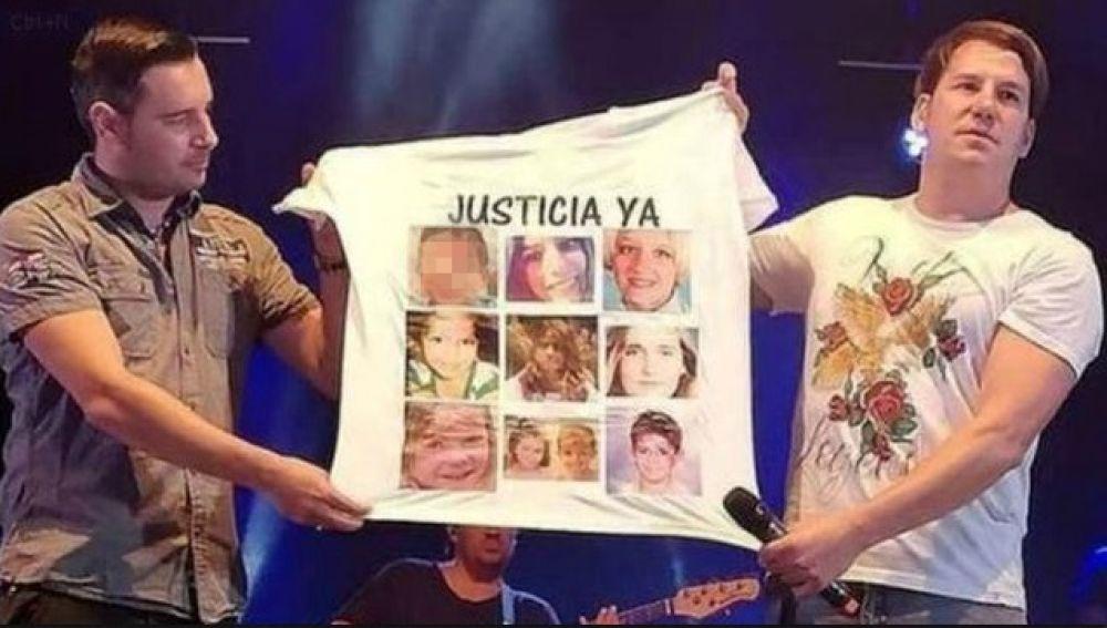 Andy y Lucas piden justicia por crímenes contra menores