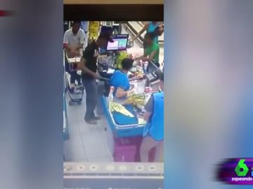 Intento de robo en un supermercado