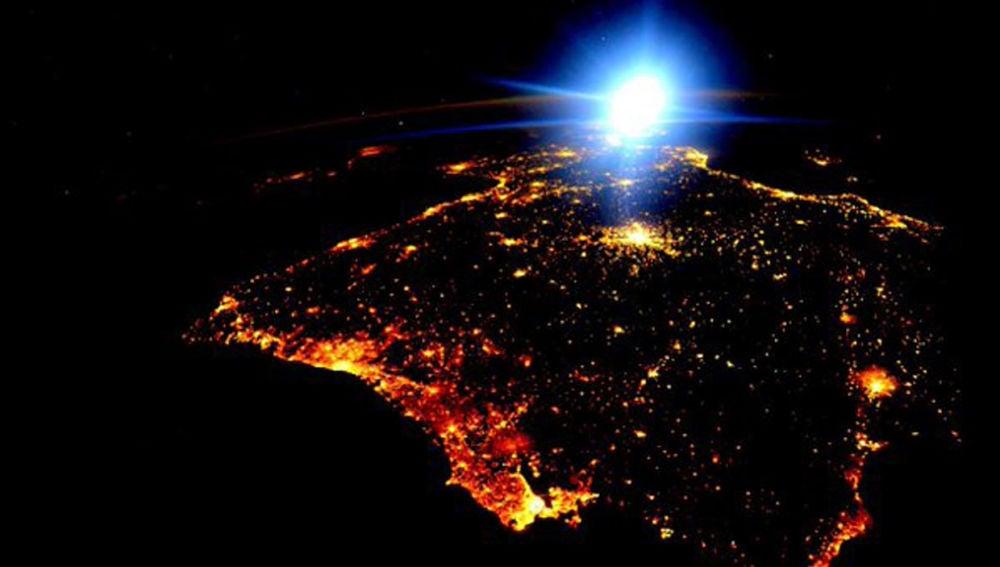 La Península Ibérica, vista desde el espacio
