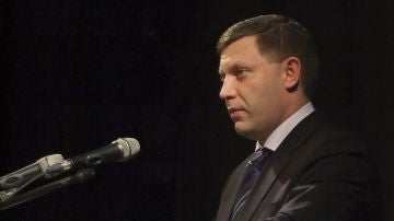 Imagen del líder separatista muerto en Ucrania