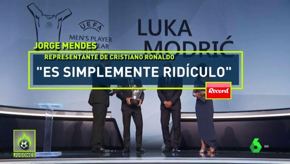 """Jorge Mendes carga contra la UEFA por el premio a Modric: """"Es pura y simplemente ridículo"""""""