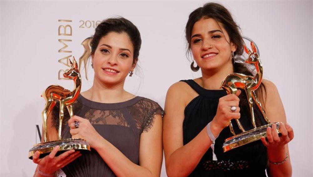 Las hermanas Sarah y Yusra Mardini