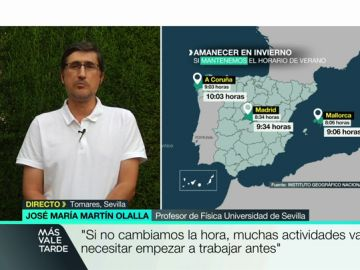 """José María Martín: """"Si se elimina el cambio de hora la gente tendrá que readaptar sus costumbres de una manera que no se puede preveer"""""""
