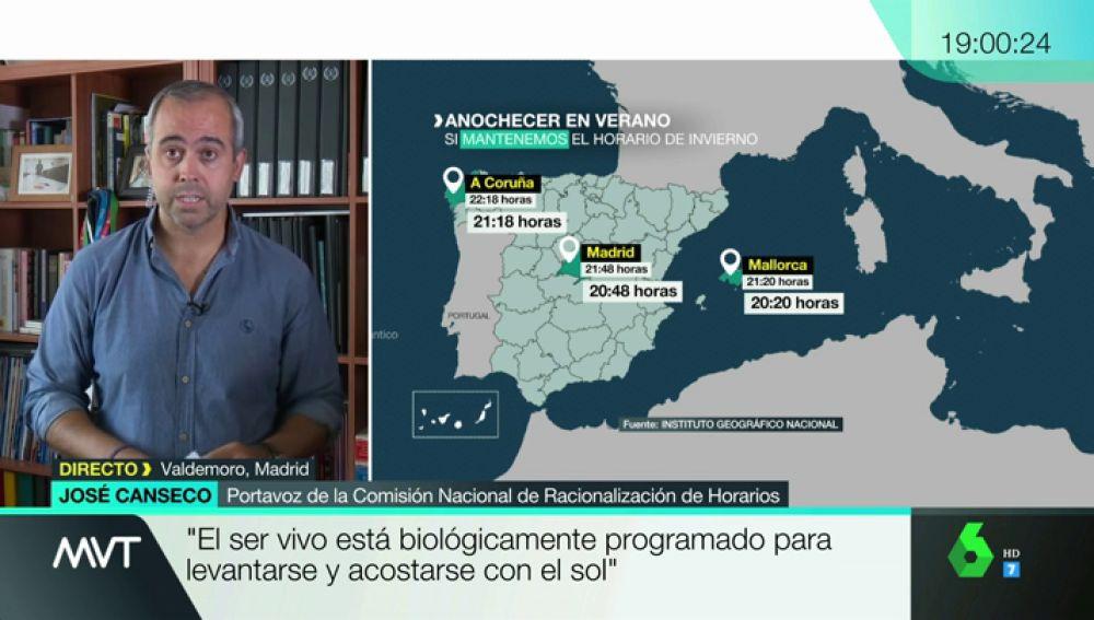 """José Canseco: """"Si nos quedamos con el horario de verano, tendremos una descoordinación de dos horas con nuestro reloj biológico"""""""