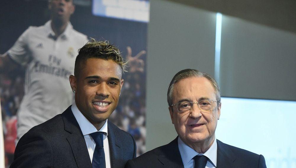 Mariano en su presentación con el Real Madrid