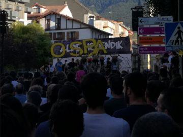 Imagen de la manifestación en Alsasua