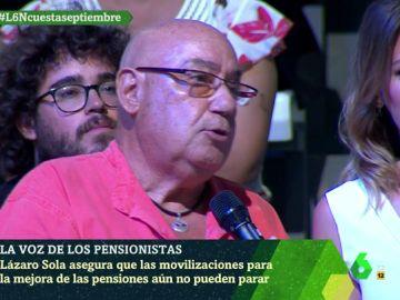 Lázaro Sola, pensionista