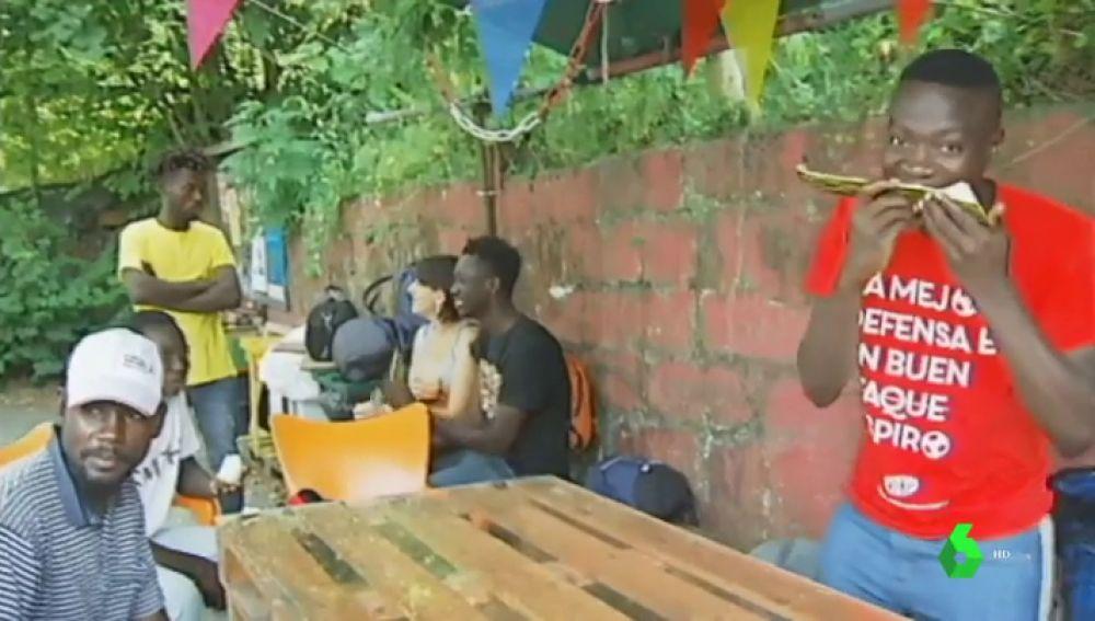 Centro de atención a migrantes en Irún