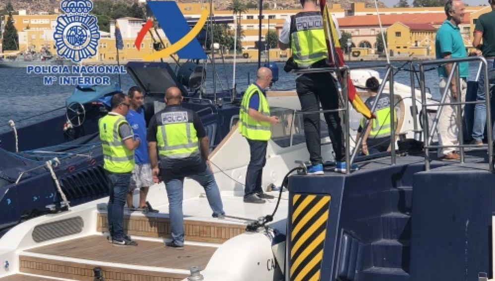 Imagen de la operación contra el narcotráfico de la Policía Nacional