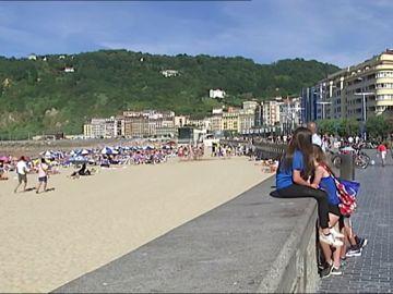 Imagen de una playa de San Sebastián