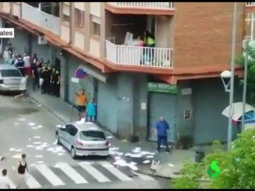 Batalla campal en Barcelona