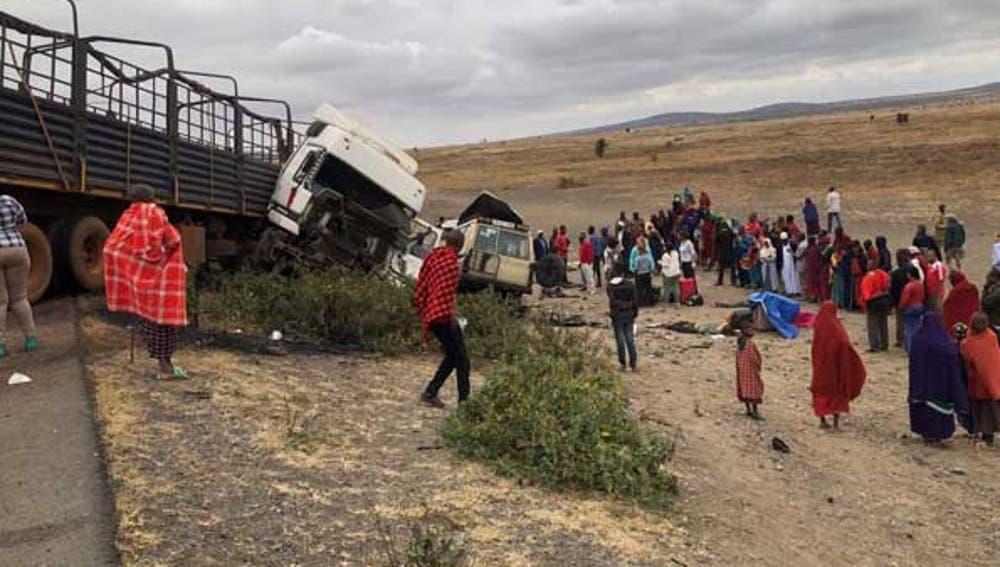 Imagen del accidente en Tanzania
