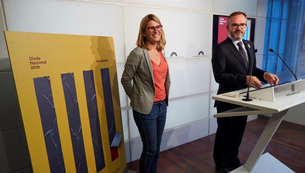 Elsa Artadi y Josep Costa presentan el cartel de la Diada 2018