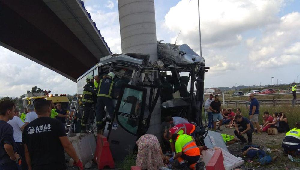 Accidente en Avilés