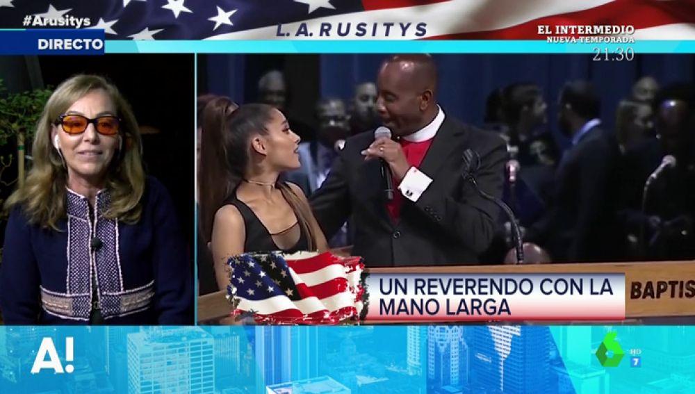 """Las indignantes disculpas del obispo que """"sobó"""" a Ariana Grande en el funeral de Aretha Franklin: """"Dice que lo ha hecho por amor porque es una cosa que hace normalmente"""""""