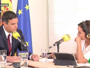 Pedro Sánchez durante una entrevista con Pepa Bueno