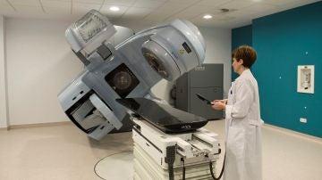 Vista de las dependencias de servicio de radioterapia en un hospital