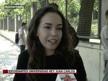 Una estudiante de la Rey Juan Carlos habla a El Intermedio