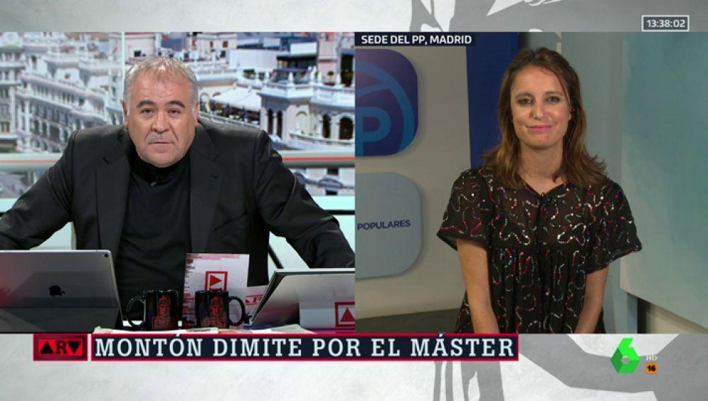 """Andrea Levy, sobre las peticiones de dimisión a Casado: """"Para tapar la gravedad que tiene la dimisión de dos ministros, ponen el foco en el PP"""""""