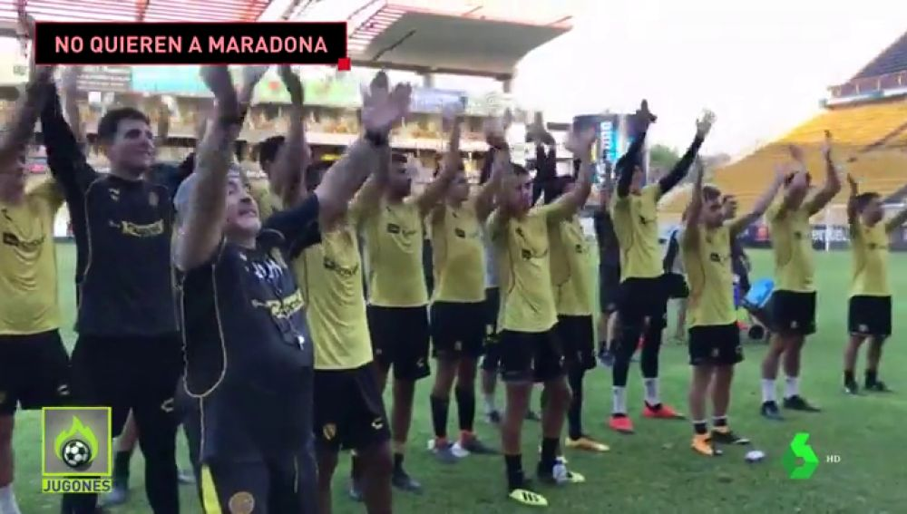 Maradona, rechazado por sus nuevos vecinos