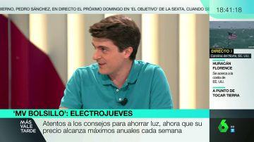 Jorge Morales repasa los consejos para llegar a ahorrar 300 euros anuales en el precio de la luz