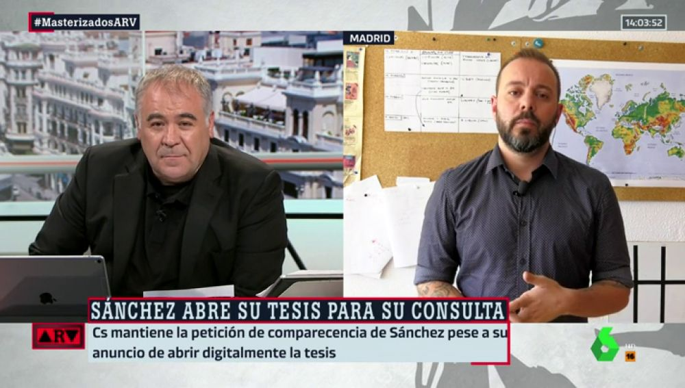 """Antonio Maestre desmiente la información de ABC sobre el trabajo del presidente: """"Rotundamente no hay plagio en la tesis de Sánchez"""""""