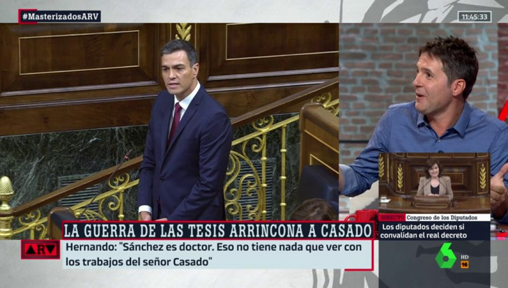 """Jesús Cintora: """"Ver al PP diciendo que Sánchez debe dar explicaciones es como lo de Maradona haciendo campañas contra la droga"""""""