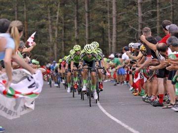 Momento de la etapa 18 de la Vuelta