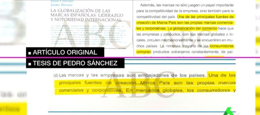 """Tesis de Pedro Sánchez:  los textos """"copiados"""" que revela ABC sí aparecen citados"""