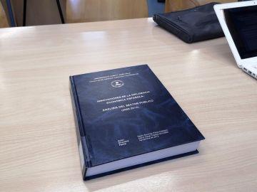 Portada de la tesis doctoral de Pedro Sánchez