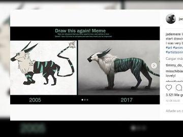 El mismo dibujo 12 años después