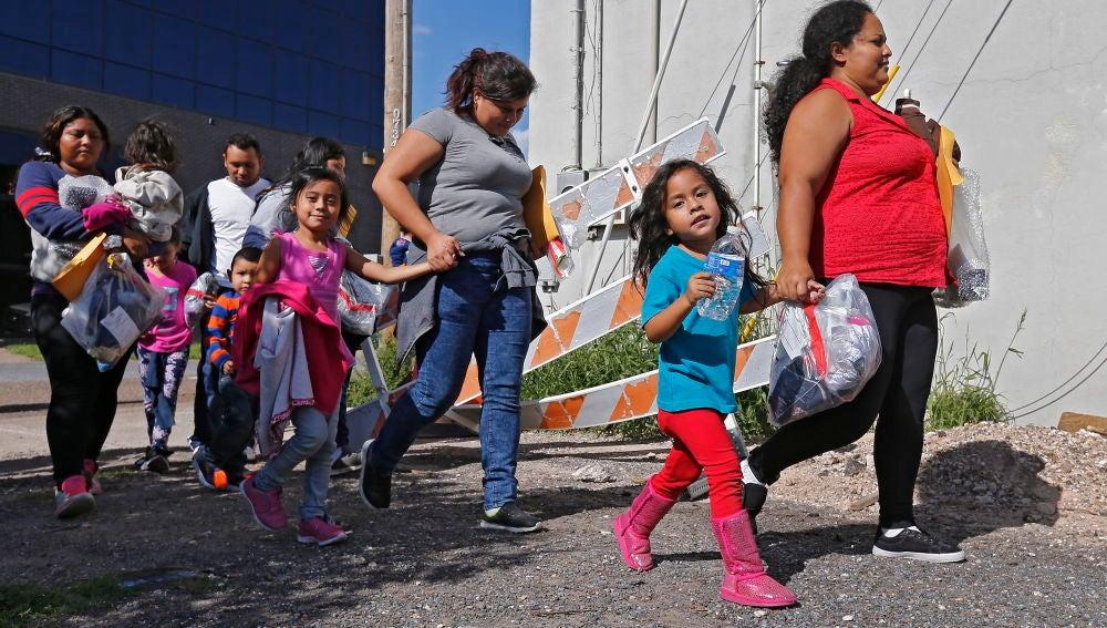 Niños en la frontera de Estados Unidos