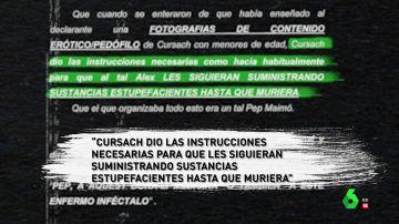 Cursach ordenó matar de sobredosis a un empleado para esconder fotos eróticas suyas con menores, según un empresario