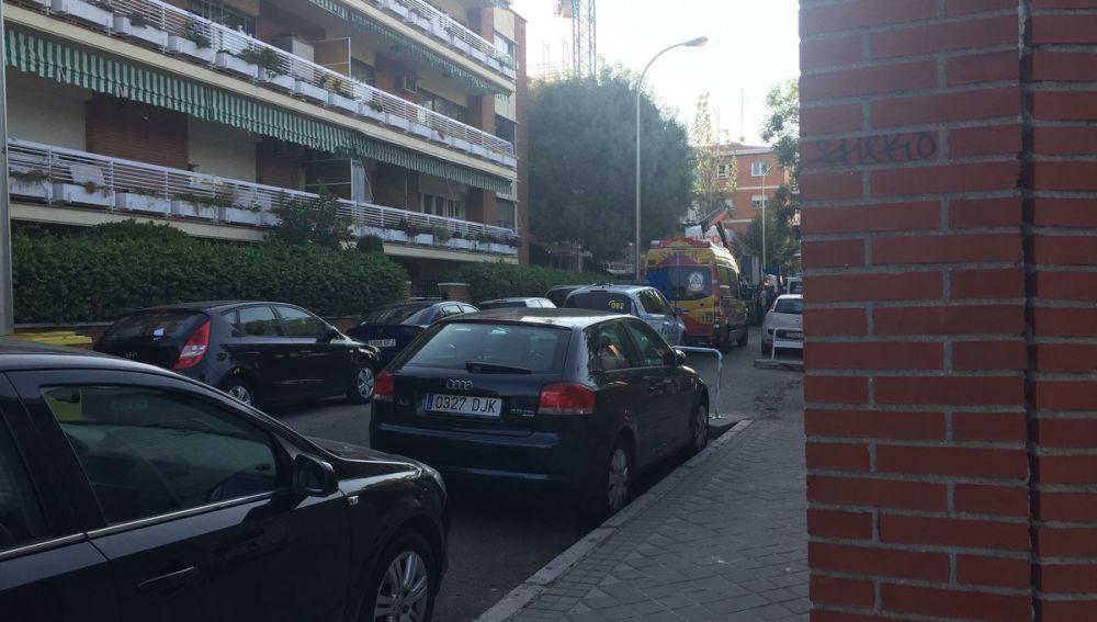 Imagen del lugar del accidente laboral en Ciudad Lineal, Madrid