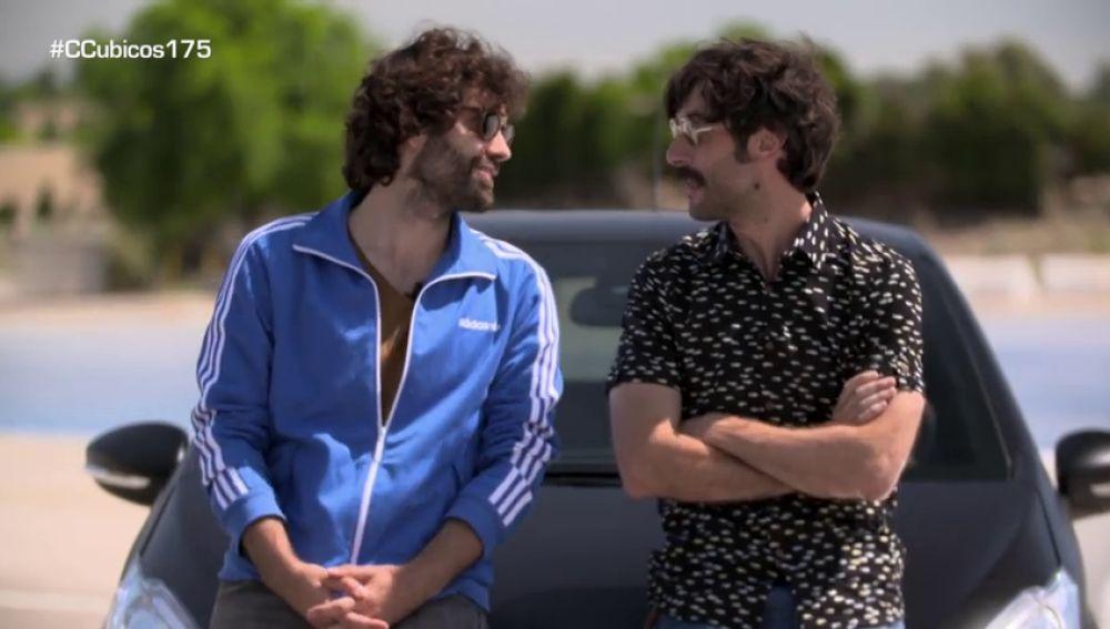 Javier Rey y Tamar Novas, compañeros en ´Fariña´y rivales en Centímetros Cúbicos