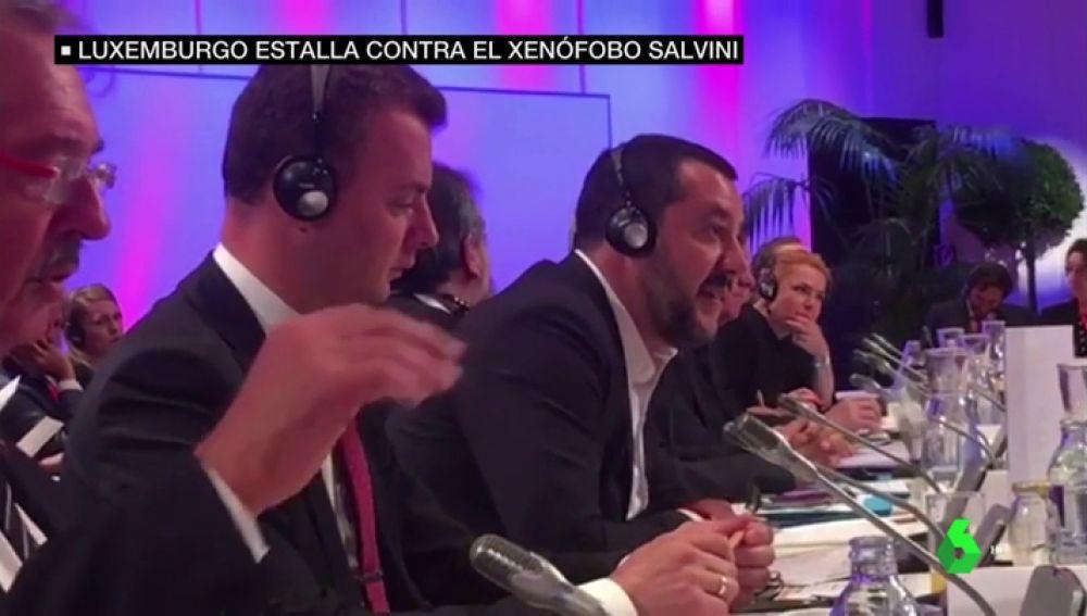 """""""¡A la mierda!"""": Duro rifirrafe entre Matteo Salvini y el ministro de migración luxemburgués"""