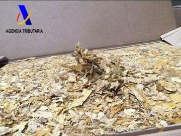 39 toneladas de tabaco picado