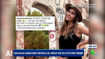 Natalia Sánchez anuncia el sexo de su bebé