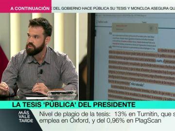 laSexta aplica programas antiplagio a la tesis de Sánchez y obtiene resultados similares a los de Moncloa